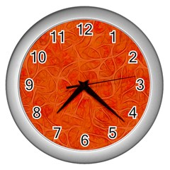 Background Structure Pattern Nerves Wall Clock (silver)
