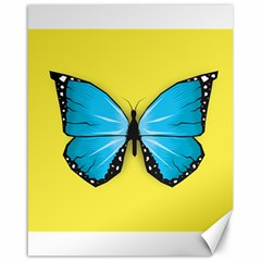 Butterfly Blue Insect Canvas 16  X 20
