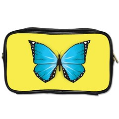 Butterfly Blue Insect Toiletries Bag (one Side)