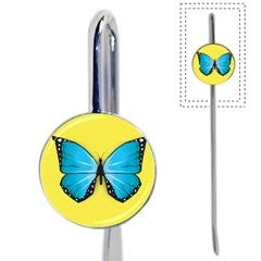 Butterfly Blue Insect Book Mark by Alisyart