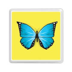 Butterfly Blue Insect Memory Card Reader (square)