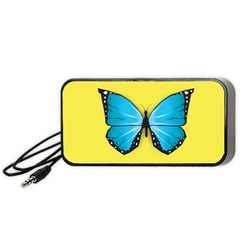 Butterfly Blue Insect Portable Speaker