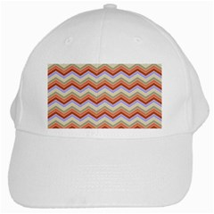 Chevron Pattern White Cap by Alisyart