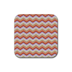 Chevron Pattern Rubber Coaster (square)  by Alisyart