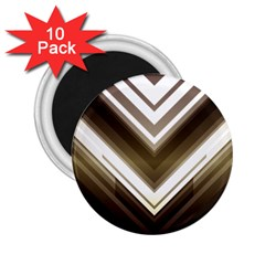 Chevron Triangle 2 25  Magnets (10 Pack)