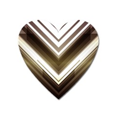Chevron Triangle Heart Magnet by Alisyart