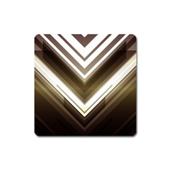 Chevron Triangle Square Magnet