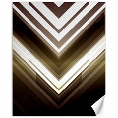 Chevron Triangle Canvas 16  X 20