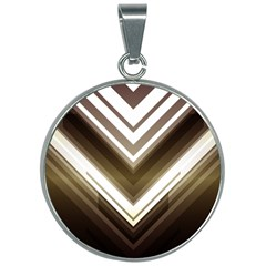 Chevron Triangle 30mm Round Necklace by Alisyart