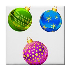 Christmas Ornaments Ball Tile Coasters