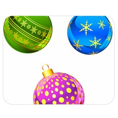 Christmas Ornaments Ball Double Sided Flano Blanket (medium)