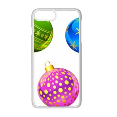 Christmas Ornaments Ball Apple Iphone 8 Plus Seamless Case (white)