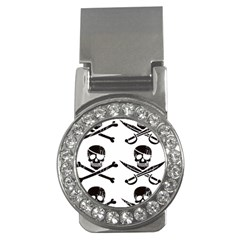 Bone Skull Money Clips (cz)