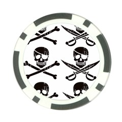 Bone Skull Poker Chip Card Guard (10 Pack)