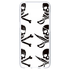 Bone Skull Samsung Galaxy S8 White Seamless Case by Alisyart