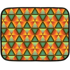 Background Triangle Abstract Golden Fleece Blanket (mini)
