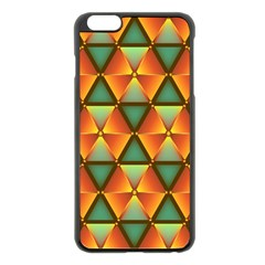 Background Triangle Abstract Golden Apple Iphone 6 Plus/6s Plus Black Enamel Case