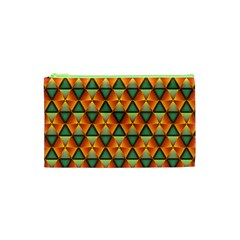 Background Triangle Abstract Golden Cosmetic Bag (xs)