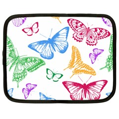 Butterfly Rainbow Netbook Case (large)