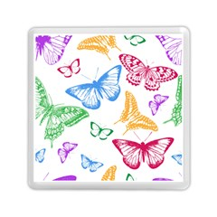 Butterfly Rainbow Memory Card Reader (square)
