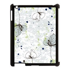 Butterfly Flower Apple Ipad 3/4 Case (black) by Alisyart
