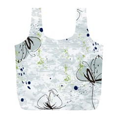 Butterfly Flower Full Print Recycle Bag (l)