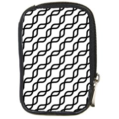 Diagonal Stripe Pattern Compact Camera Leather Case
