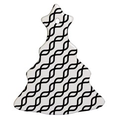 Diagonal Stripe Pattern Christmas Tree Ornament (two Sides)