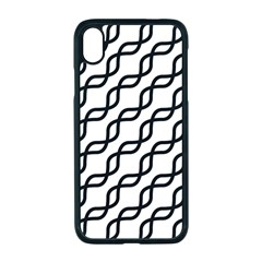 Diagonal Stripe Pattern Apple Iphone Xr Seamless Case (black)