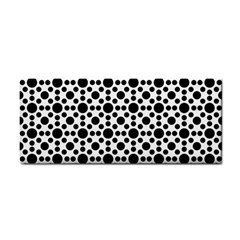 Dot Circle Black Hand Towel