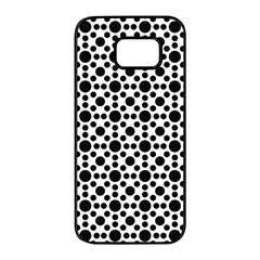 Dot Circle Black Samsung Galaxy S7 Edge Black Seamless Case by Alisyart