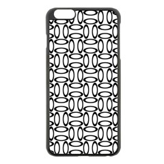 Ellipse Pattern Ellipse Dot Pattern Apple Iphone 6 Plus/6s Plus Black Enamel Case