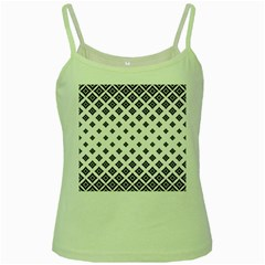 Concentric Halftone Wallpaper Green Spaghetti Tank by Alisyart
