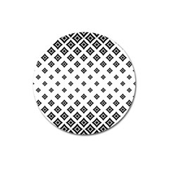 Concentric Halftone Wallpaper Magnet 3  (round)