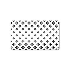 Concentric Halftone Wallpaper Magnet (name Card) by Alisyart