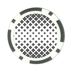 Concentric Halftone Wallpaper Poker Chip Card Guard