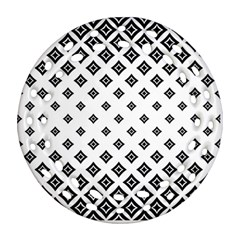 Concentric Halftone Wallpaper Ornament (round Filigree) by Alisyart