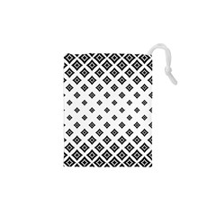 Concentric Halftone Wallpaper Drawstring Pouch (xs)