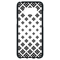 Concentric Halftone Wallpaper Samsung Galaxy S8 Black Seamless Case by Alisyart