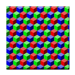 Colorful Prismatic Rainbow Tile Coasters by Alisyart