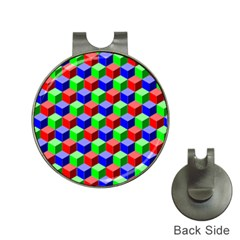 Colorful Prismatic Rainbow Hat Clips With Golf Markers
