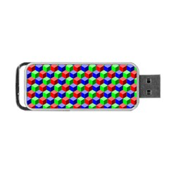 Colorful Prismatic Rainbow Portable Usb Flash (two Sides)