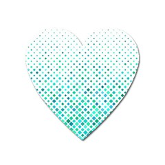 Diagonal Square Cyan Element Heart Magnet by Alisyart