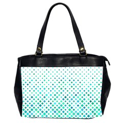 Diagonal Square Cyan Element Oversize Office Handbag (2 Sides) by Alisyart