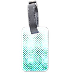 Diagonal Square Cyan Element Luggage Tags (one Side)