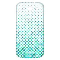 Diagonal Square Cyan Element Samsung Galaxy S3 S Iii Classic Hardshell Back Case