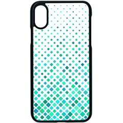 Diagonal Square Cyan Element Apple Iphone X Seamless Case (black)