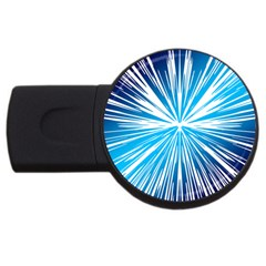 Color Blue Background Structure Usb Flash Drive Round (4 Gb)
