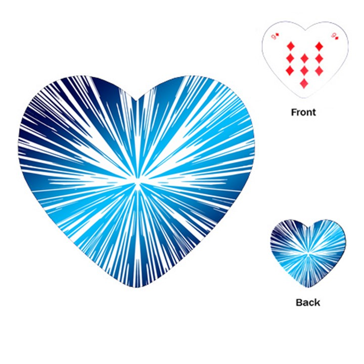 Color Blue Background Structure Playing Cards (Heart)
