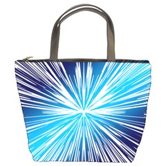 Color Blue Background Structure Bucket Bag by Alisyart